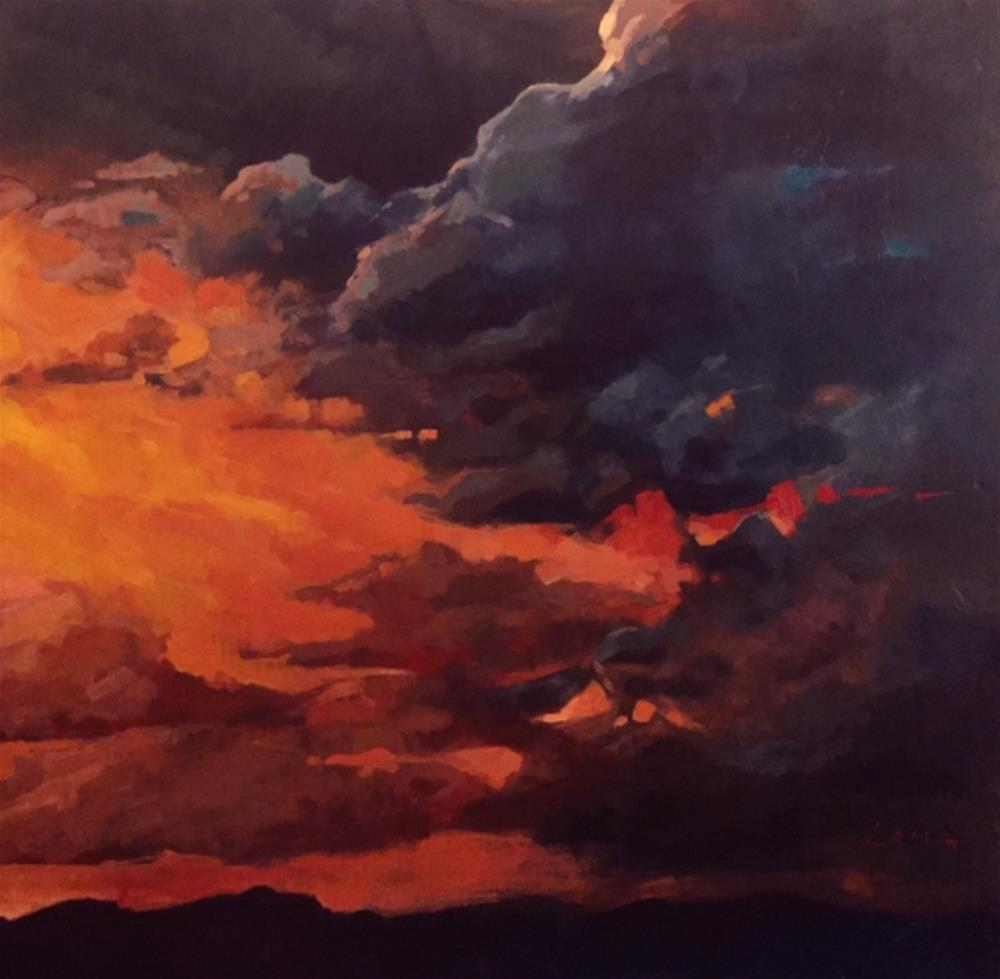 """Storm, Wyoming"" original fine art by Chris Long"