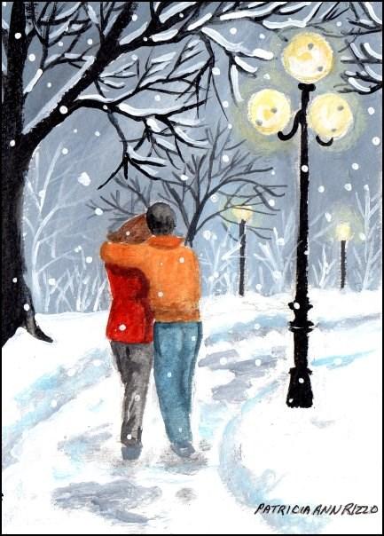 """""""So In Love"""" original fine art by Patricia Ann Rizzo"""