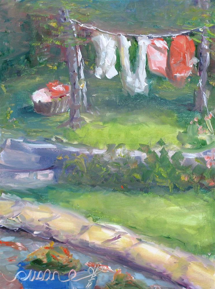 """Clean Cotton"" original fine art by Susan Elizabeth Jones"