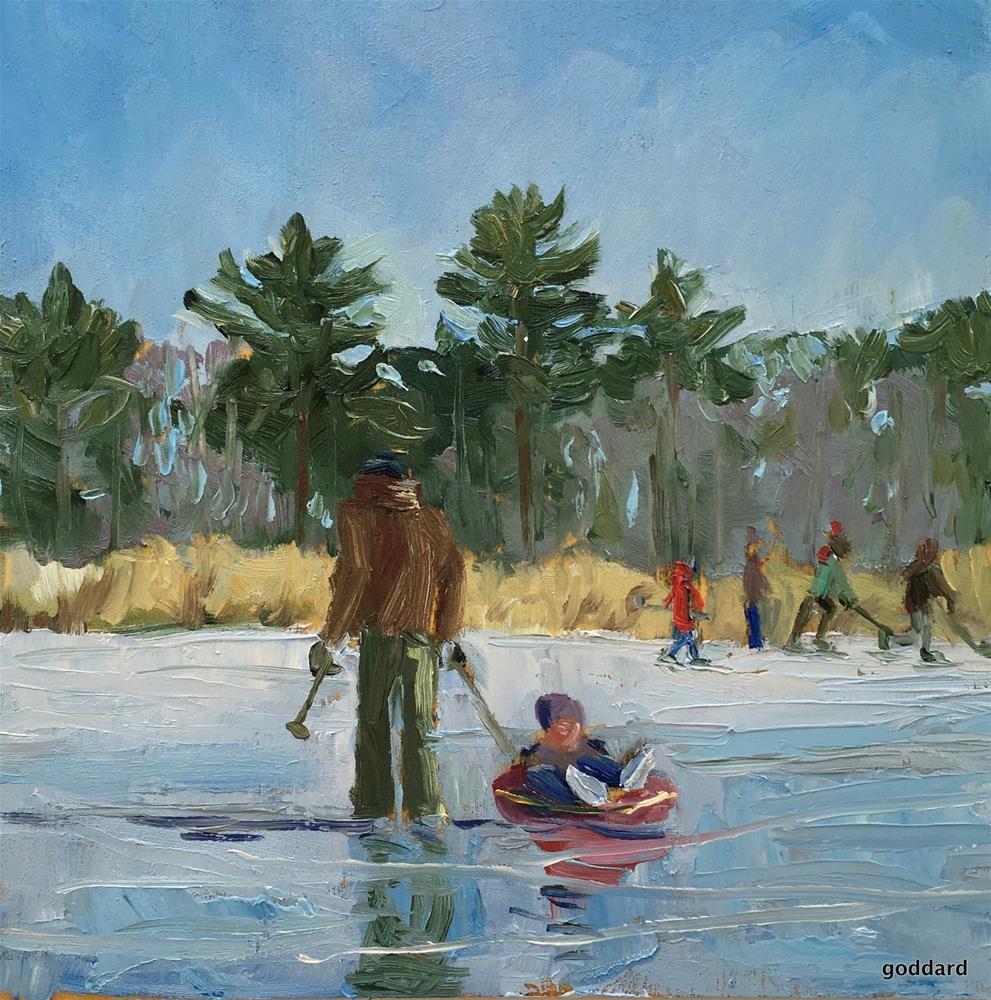 """Ice Escapades"" original fine art by Shari Goddard Shambaugh"