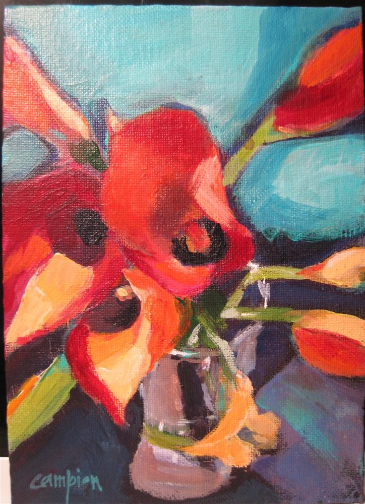 """220 Calla Lillies"" original fine art by Diane Campion"