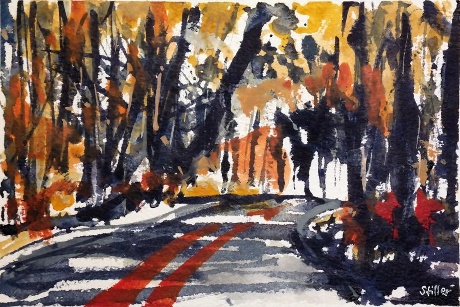 """""""3027 Fall Forest 01"""" original fine art by Dietmar Stiller"""