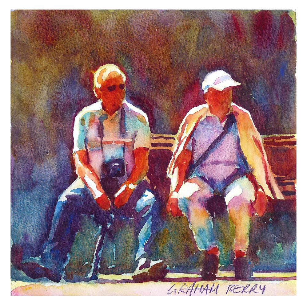 """""""Bench for two"""" original fine art by Graham Berry"""