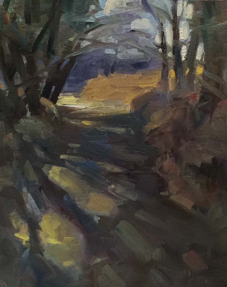 """The Tiffany Glass Trail"" original fine art by Patti McNutt"