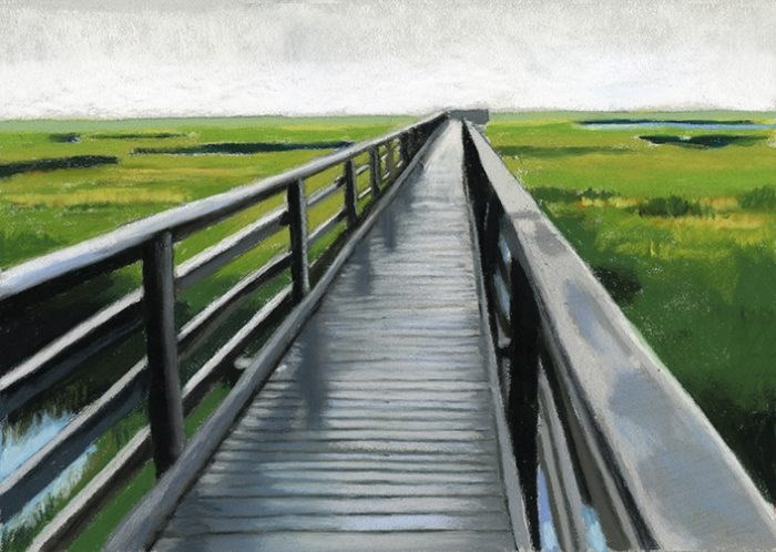 """Above the Marsh Cape Cod pastel painting"" original fine art by Ria Hills"