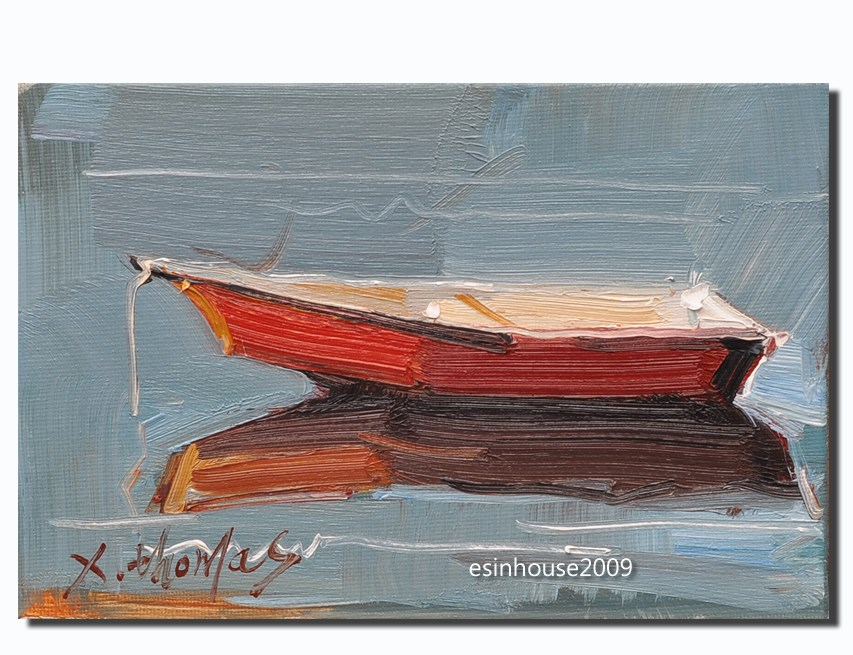 """boat"" original fine art by Thomas Xie"