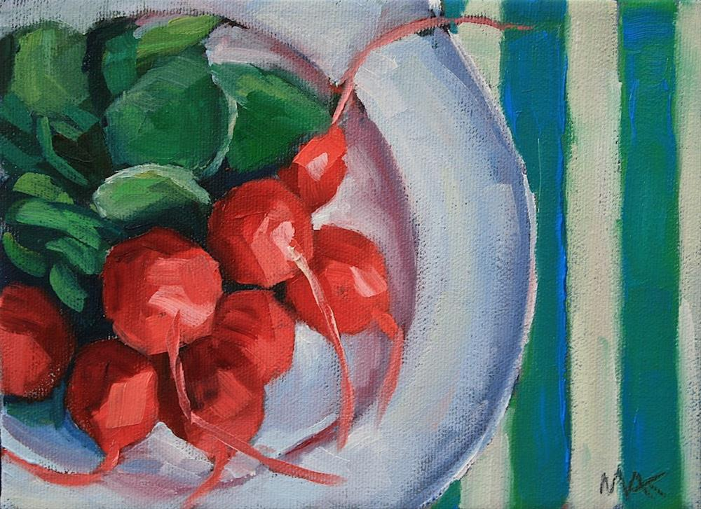"""Radish Plate"" original fine art by Mary Anne Cary"