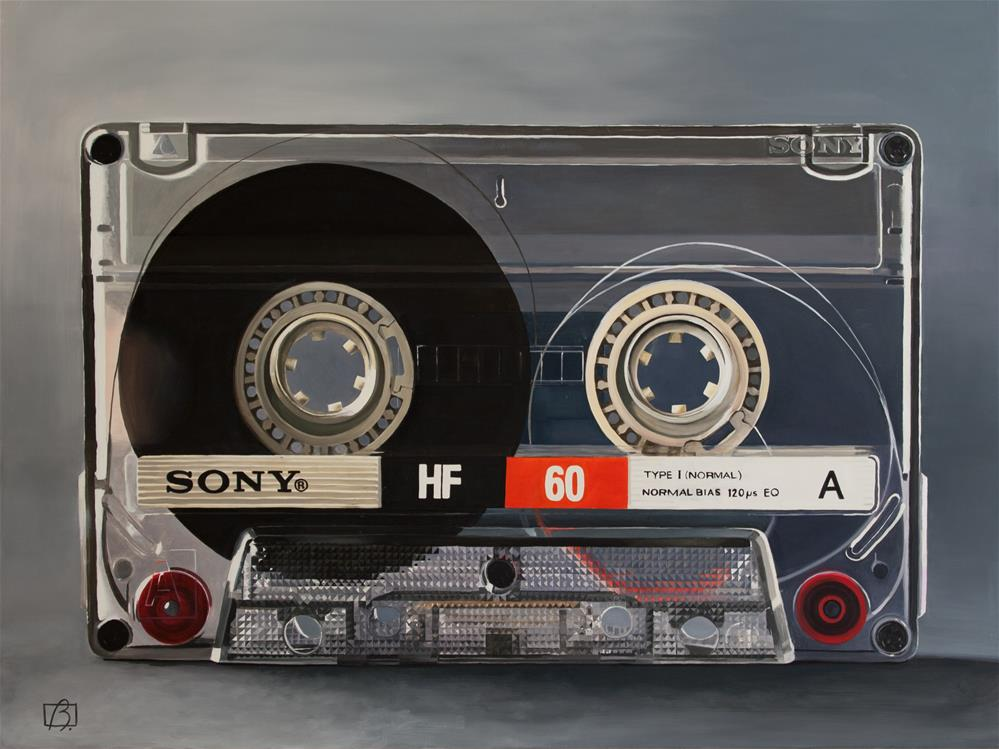 """Cassette 60"" original fine art by Andre Beaulieu"