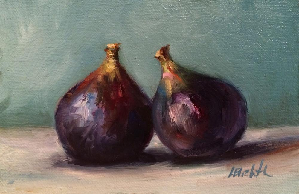 """Fresh Figs, 4x 6 Oil on linen Panel"" original fine art by Carolina Elizabeth"