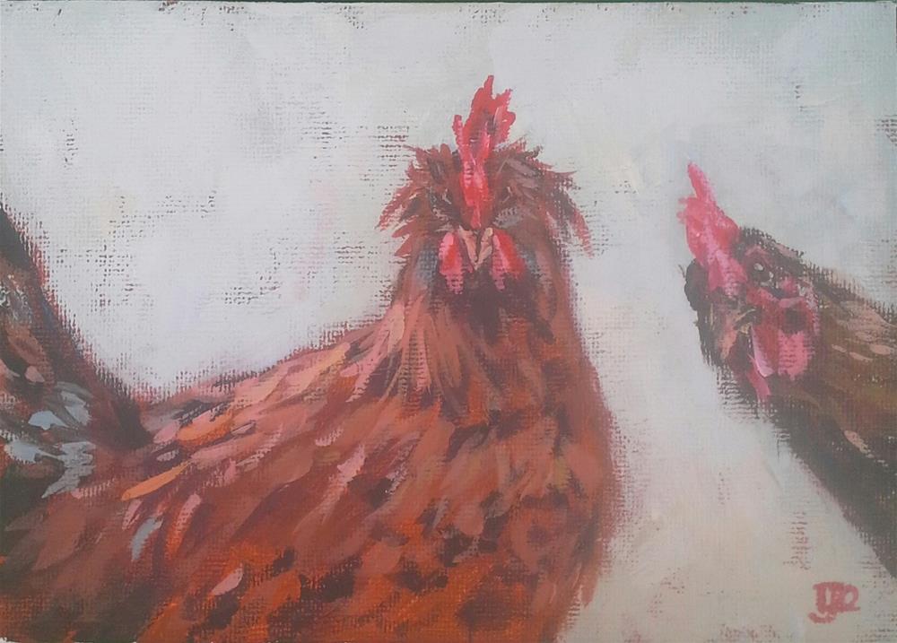 """Me Too, Me Too!"" original fine art by Leanne Owen"
