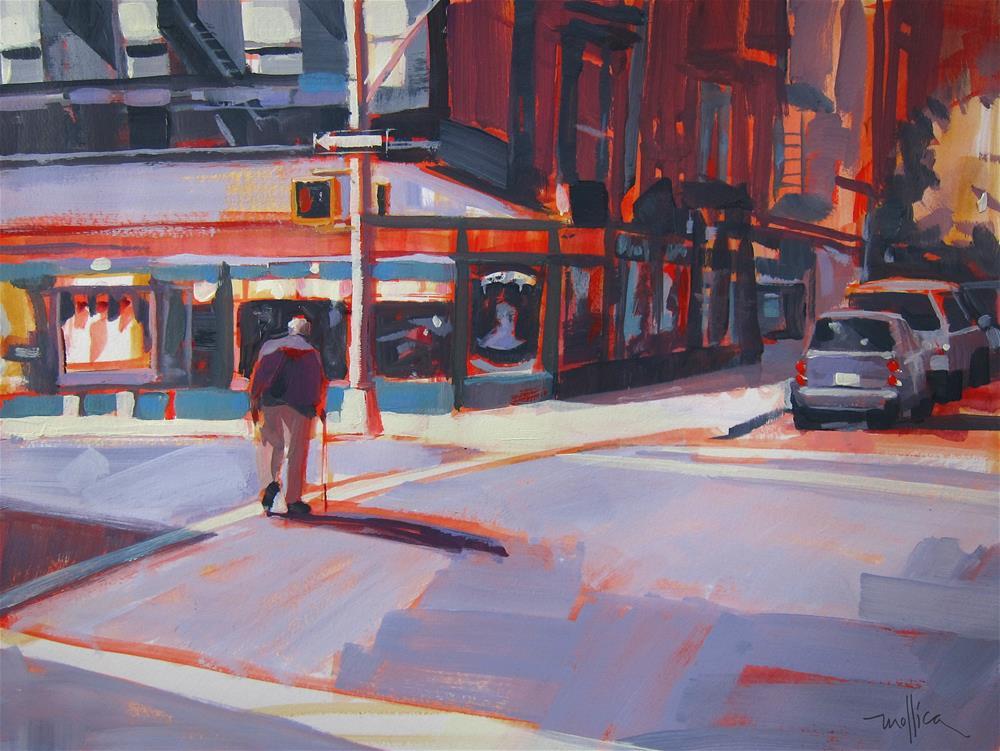 """Crossing First Ave. NYC"" original fine art by Patti Mollica"