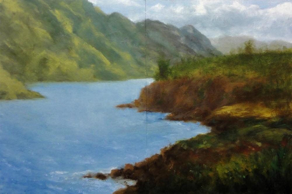 """Kauai Bay Diptych"" original fine art by Dalan Wells"