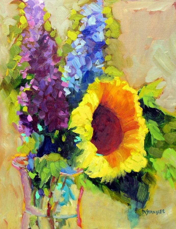 """Sunflower Friday, 12145  SOLD"" original fine art by Nancy Standlee"