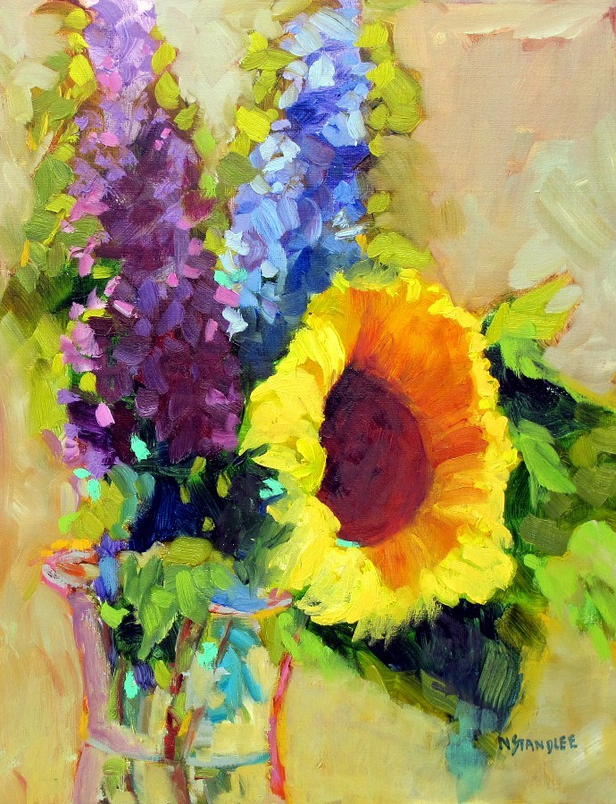 """Sunflower Friday, 12145  SOLD"" original fine art by Nancy Standlee"