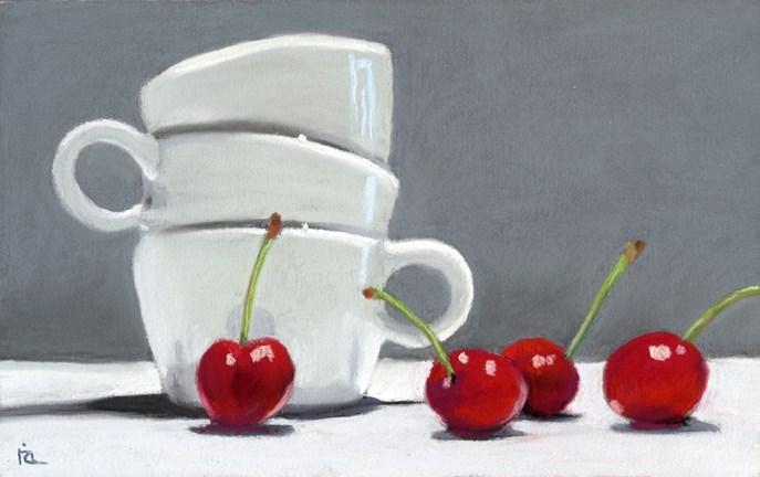 """Coffee and Cherries"" original fine art by Ria Hills"