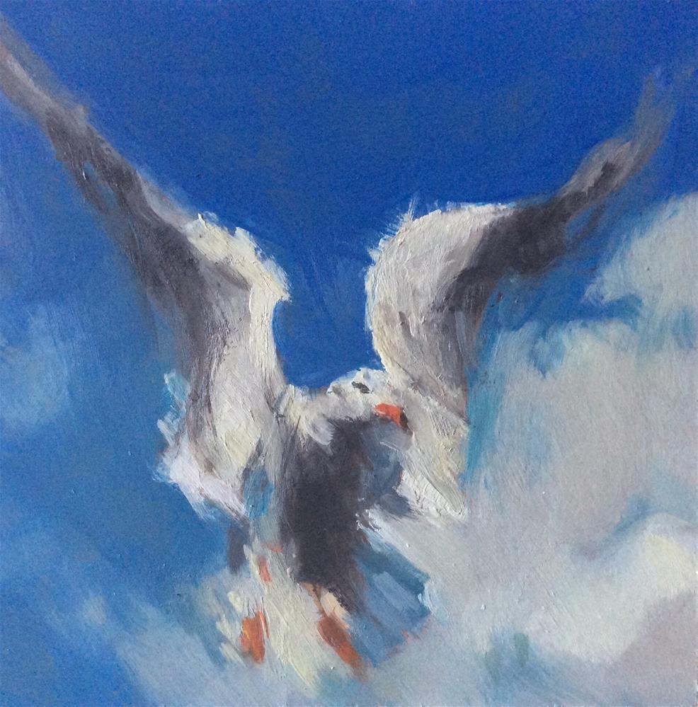 """""""Spirit Bird"""" original fine art by Paula Howson-Green"""