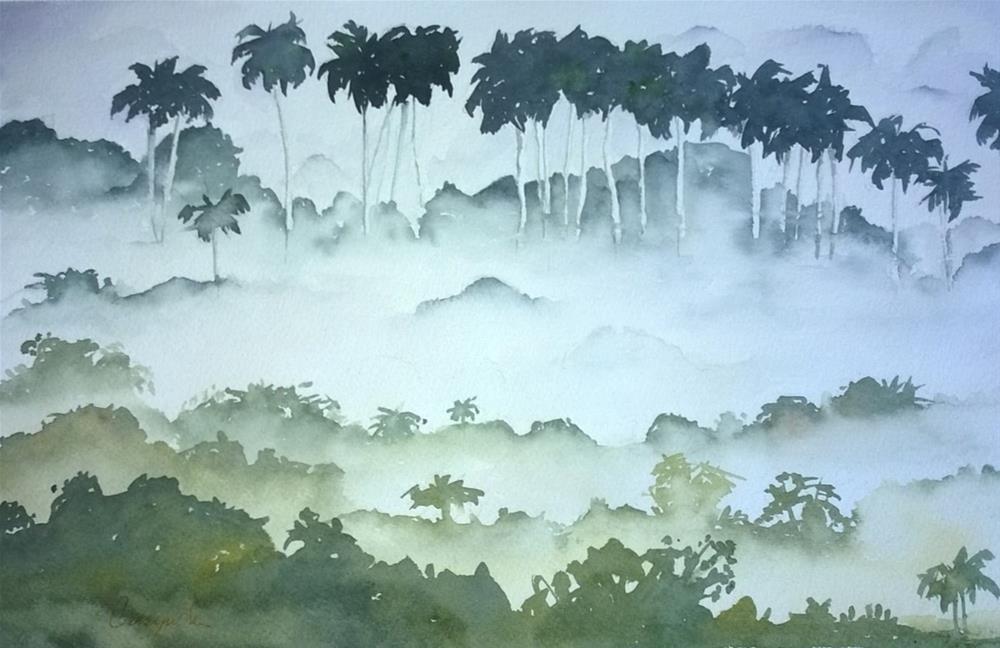 """""""Cuban fog"""" original fine art by Crisynda Buss"""