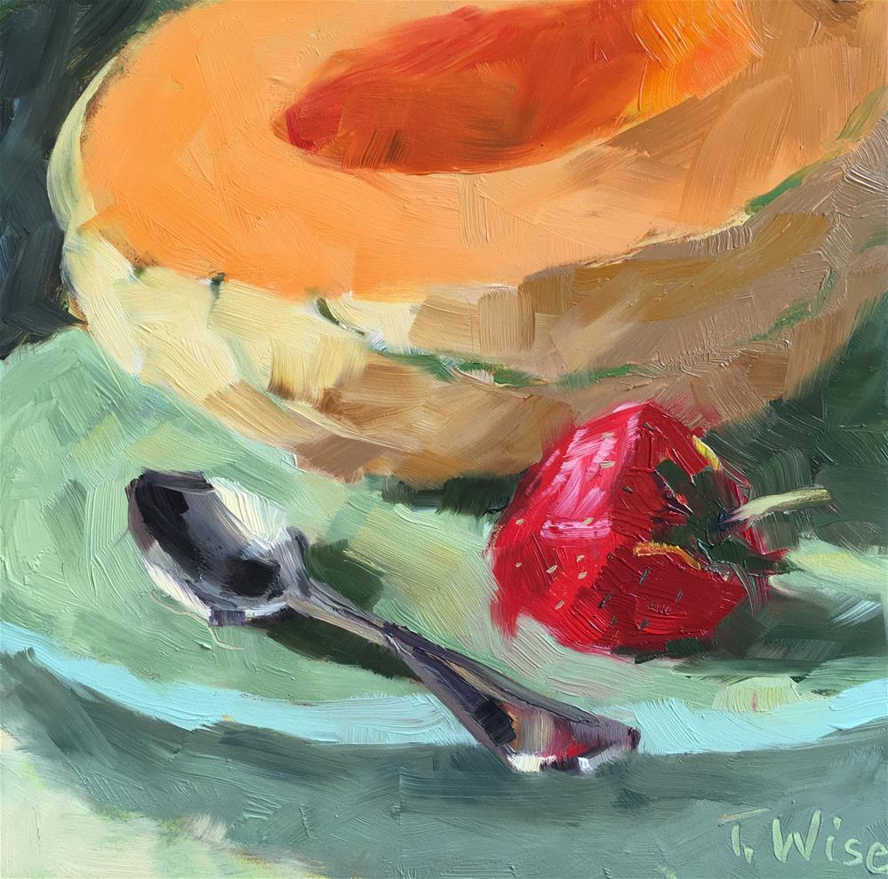 """Melon for Breakfast"" original fine art by Tracy Wise"