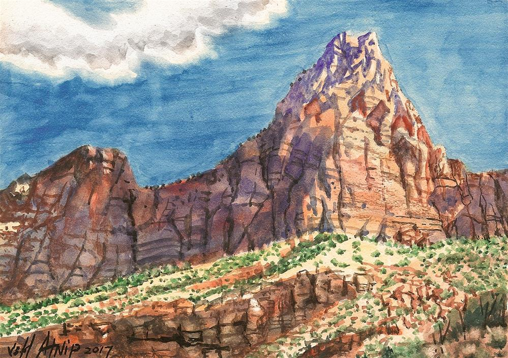 """Zion Park Study"" original fine art by Jeff Atnip"