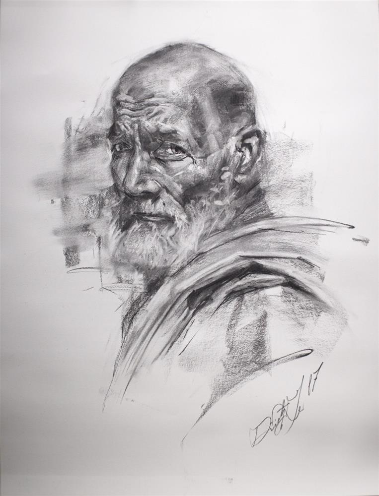 """""""Portrait in Charcoal № 4"""" original fine art by Dimitriy Gritsenko"""
