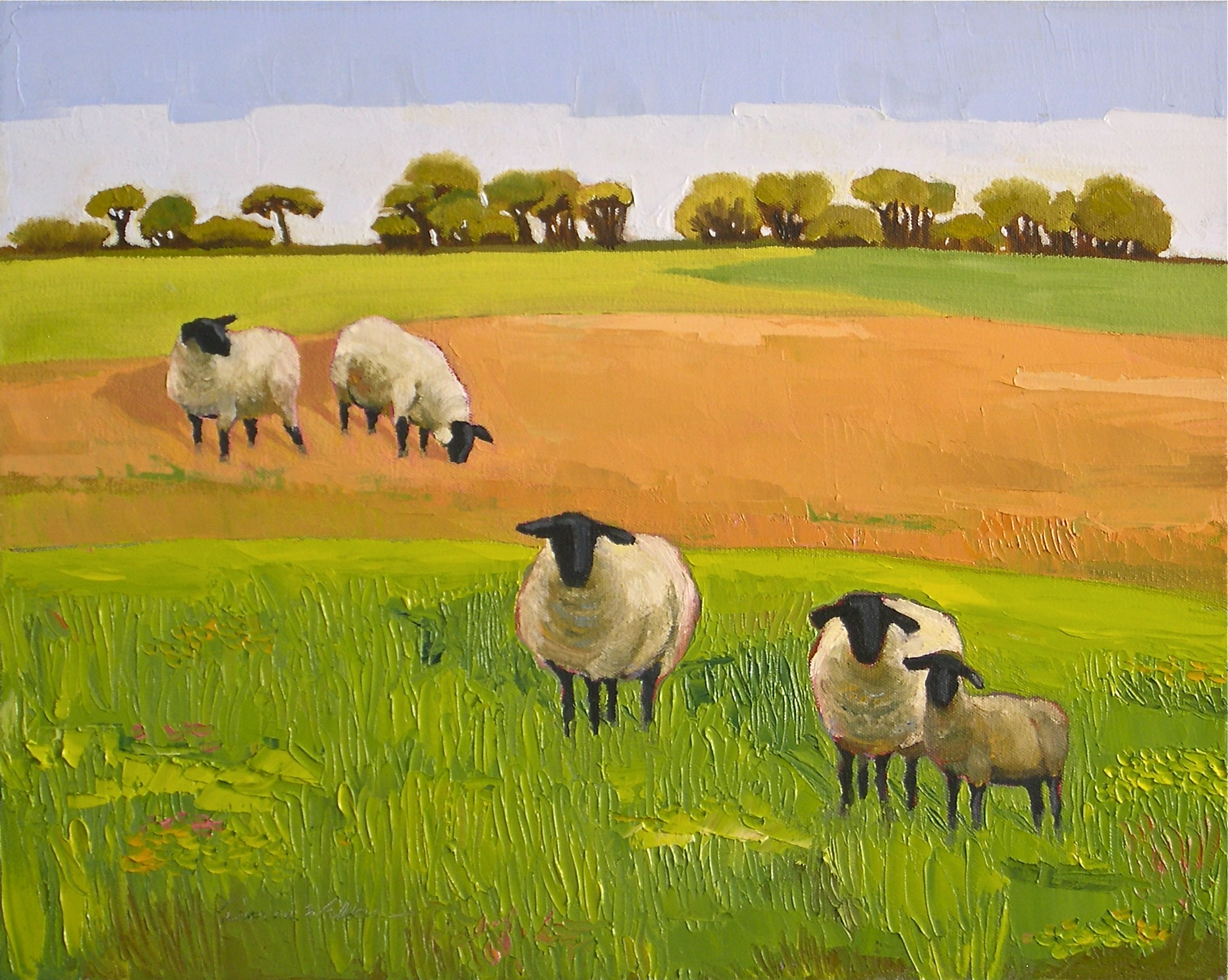 """Electric Sheep II"" original fine art by Donna Walker"