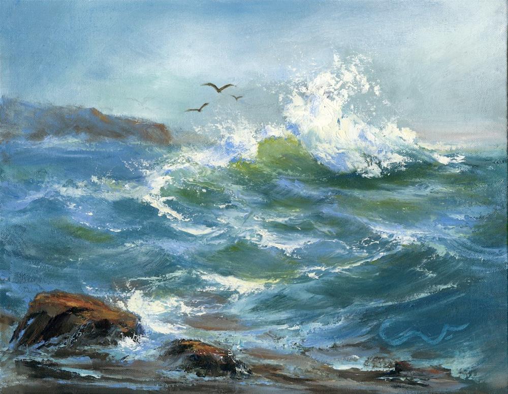 """Sea Chant"" original fine art by Sharon Abbott-Furze"