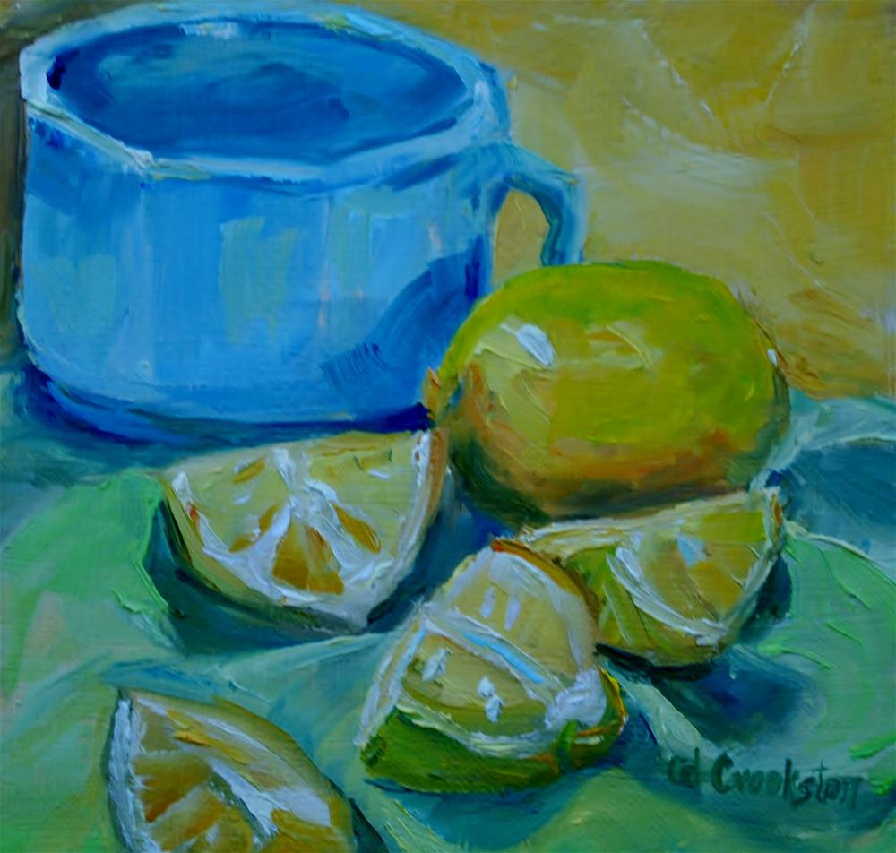 """""""Cup with Lemons"""" original fine art by Catherine Crookston"""