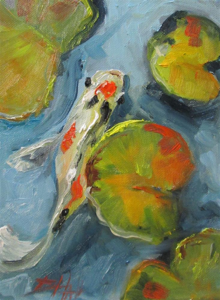 """Koi No. 4"" original fine art by Delilah Smith"