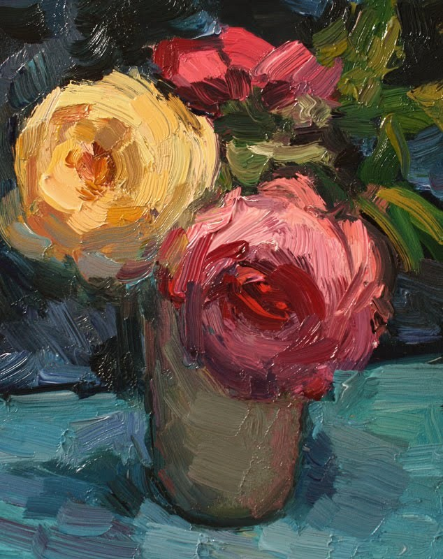 """""""Today's Roses"""" original fine art by Kathryn Townsend"""