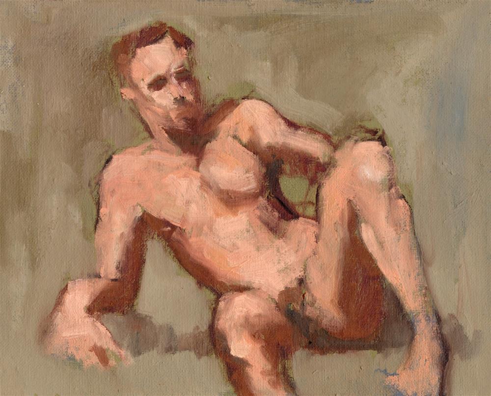 """""""Reclining Nude"""" original fine art by Marlene Lee"""
