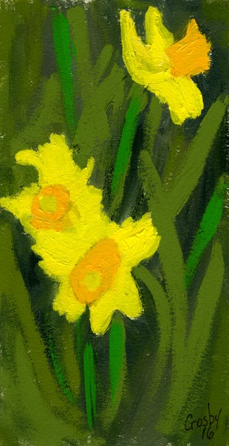 """Slice of Spring"" original fine art by Donna Crosby"