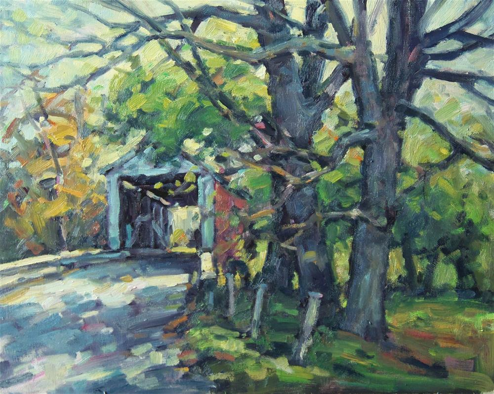 """Thru the Bridge"" original fine art by J Scott Wolf"
