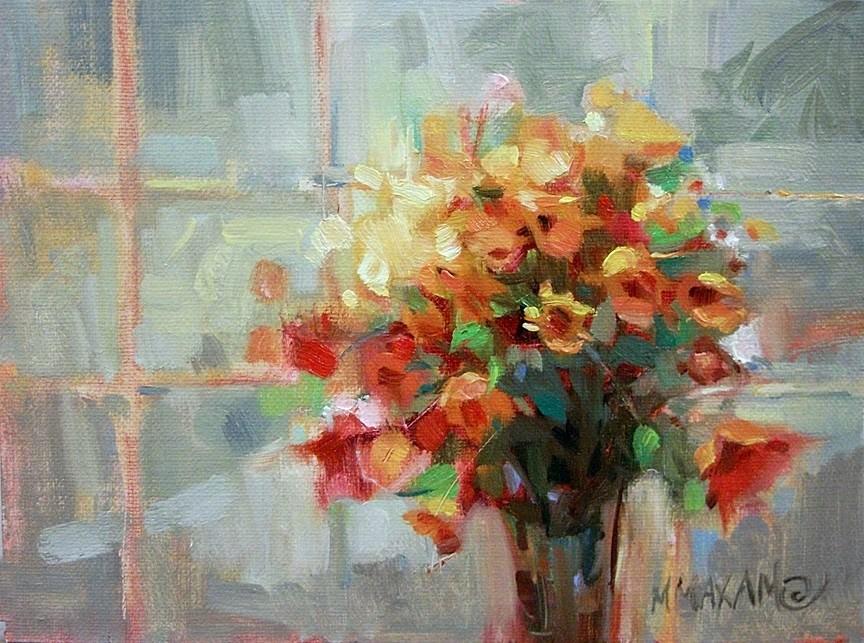 """More Sunny Windows"" original fine art by Mary Maxam"
