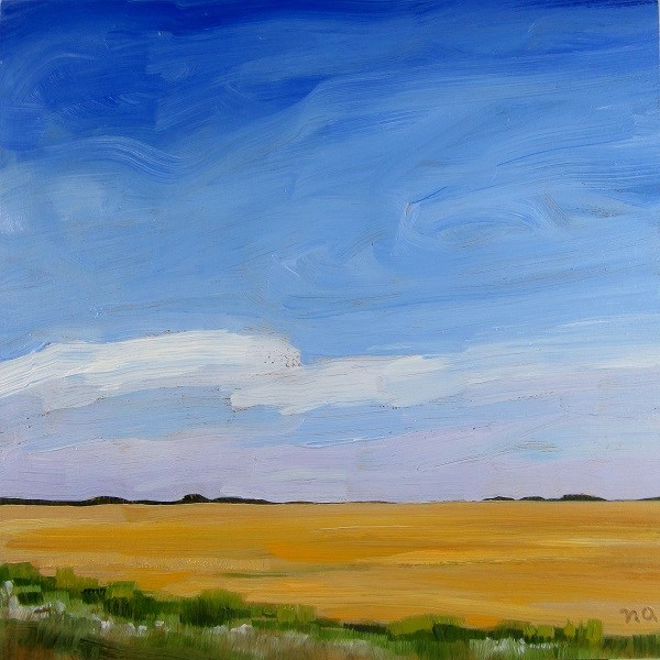 """Golden Prairie"" original fine art by Nicki Ault"