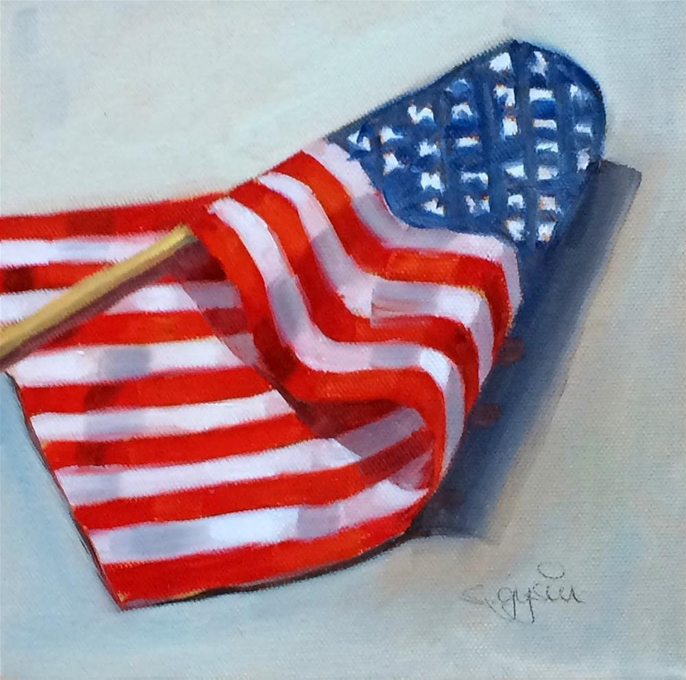 """F- is for Flag"" original fine art by Suzanne Gysin"