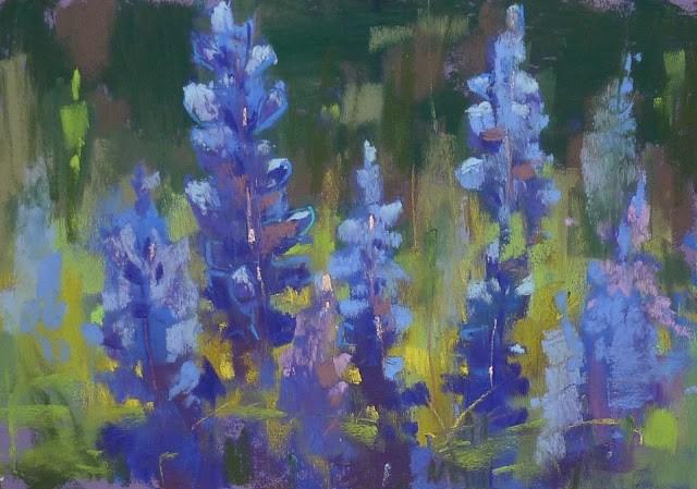 """Five Tips for More Painterly Bluebonnets"" original fine art by Karen Margulis"