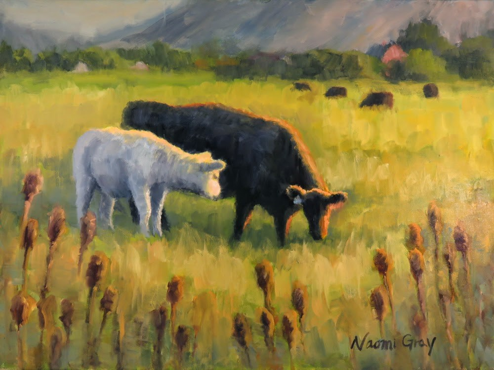 """Mother and Calf"" original fine art by Naomi Gray"