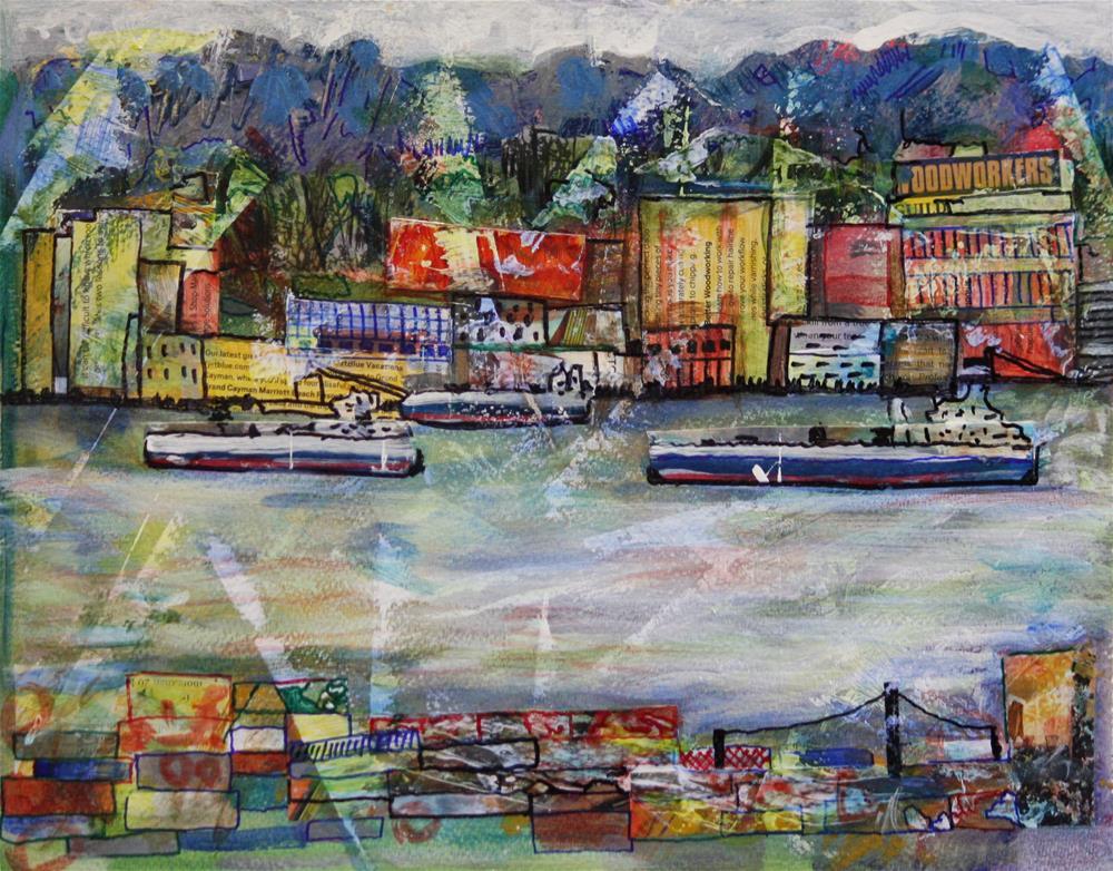 """""""Burrard Inlet"""" original fine art by Terri-Anne Barge"""