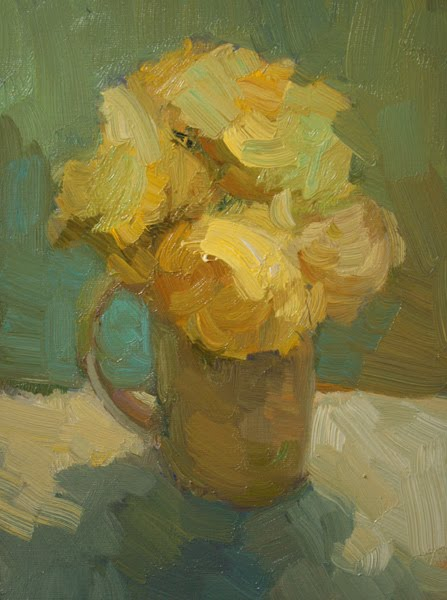 """""""Yellow Roses"""" original fine art by Kathryn Townsend"""