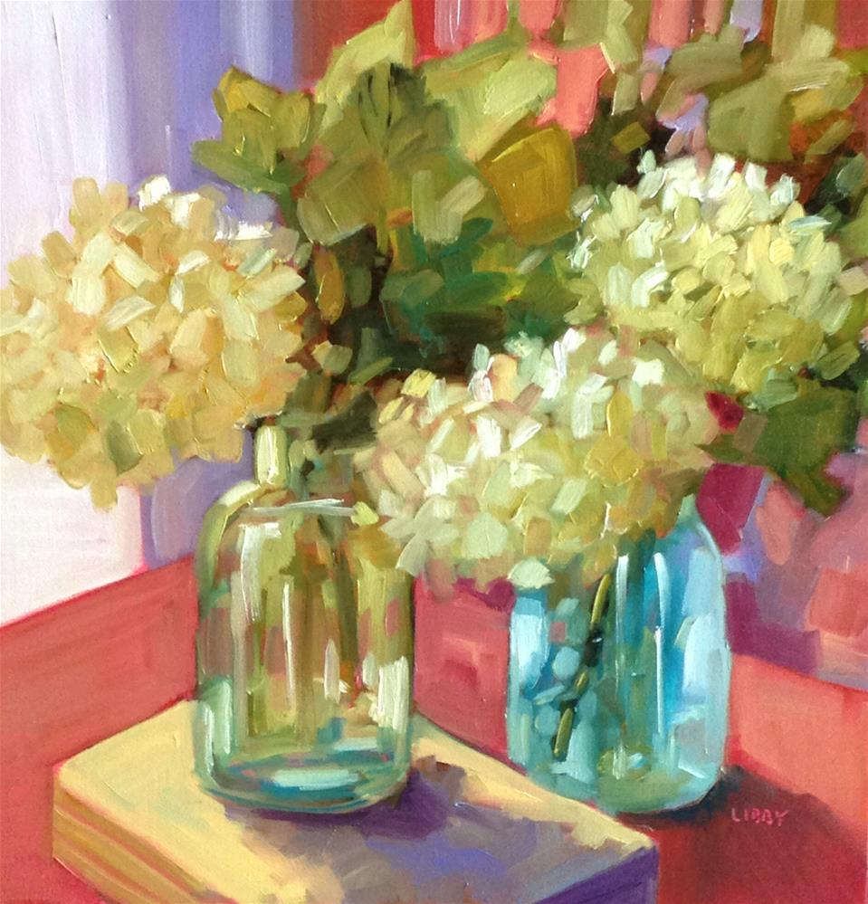 """""""Library Flowers"""" original fine art by Libby Anderson"""