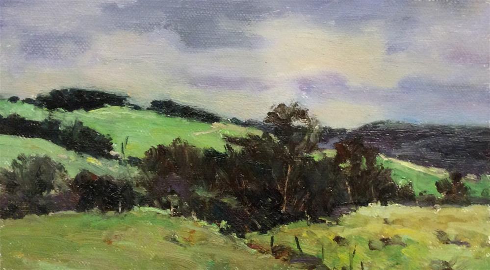 """Northumberland Landscape 3"" original fine art by John Shave"