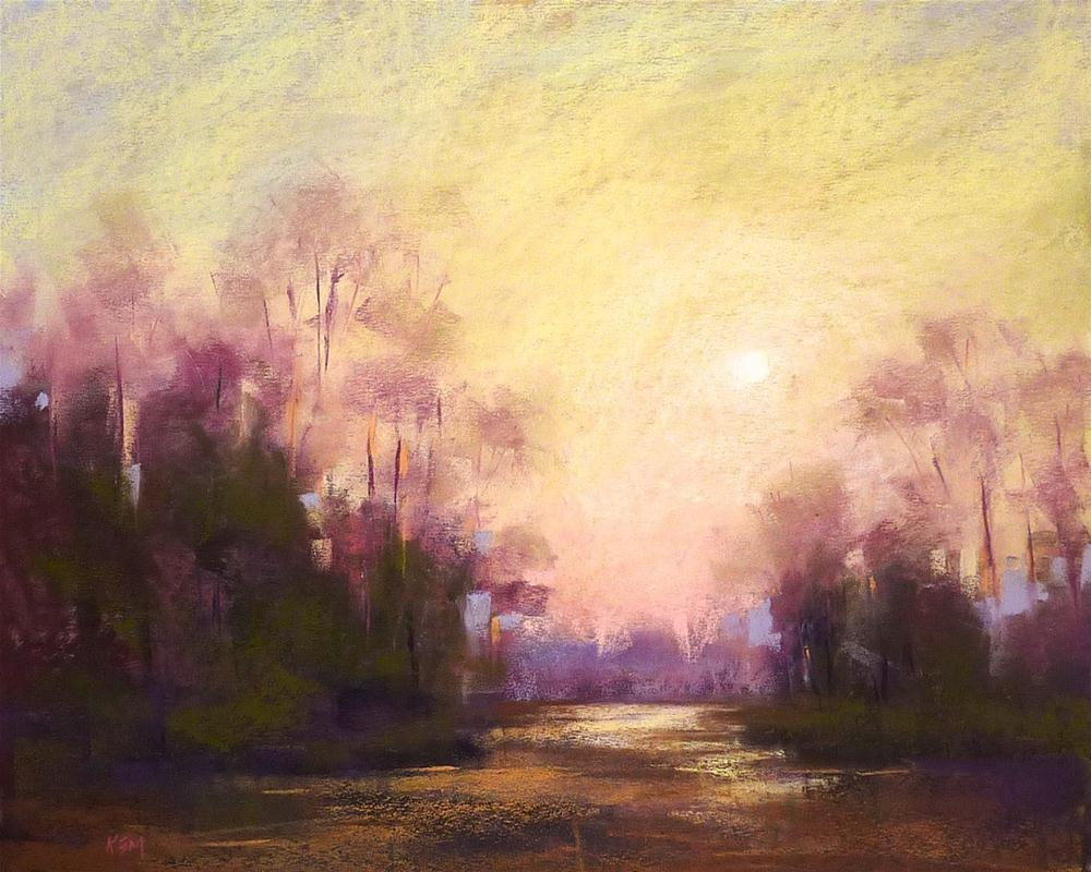 """Moody Early Morning Landscape"" original fine art by Karen Margulis"