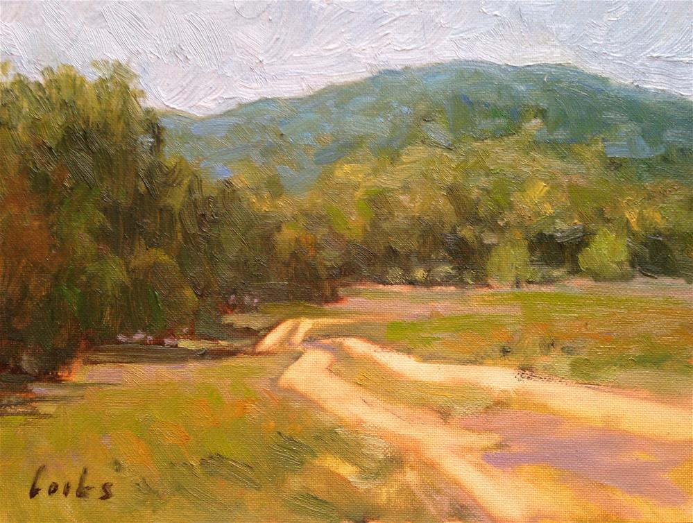 """Ranch Road"" original fine art by David Forks"