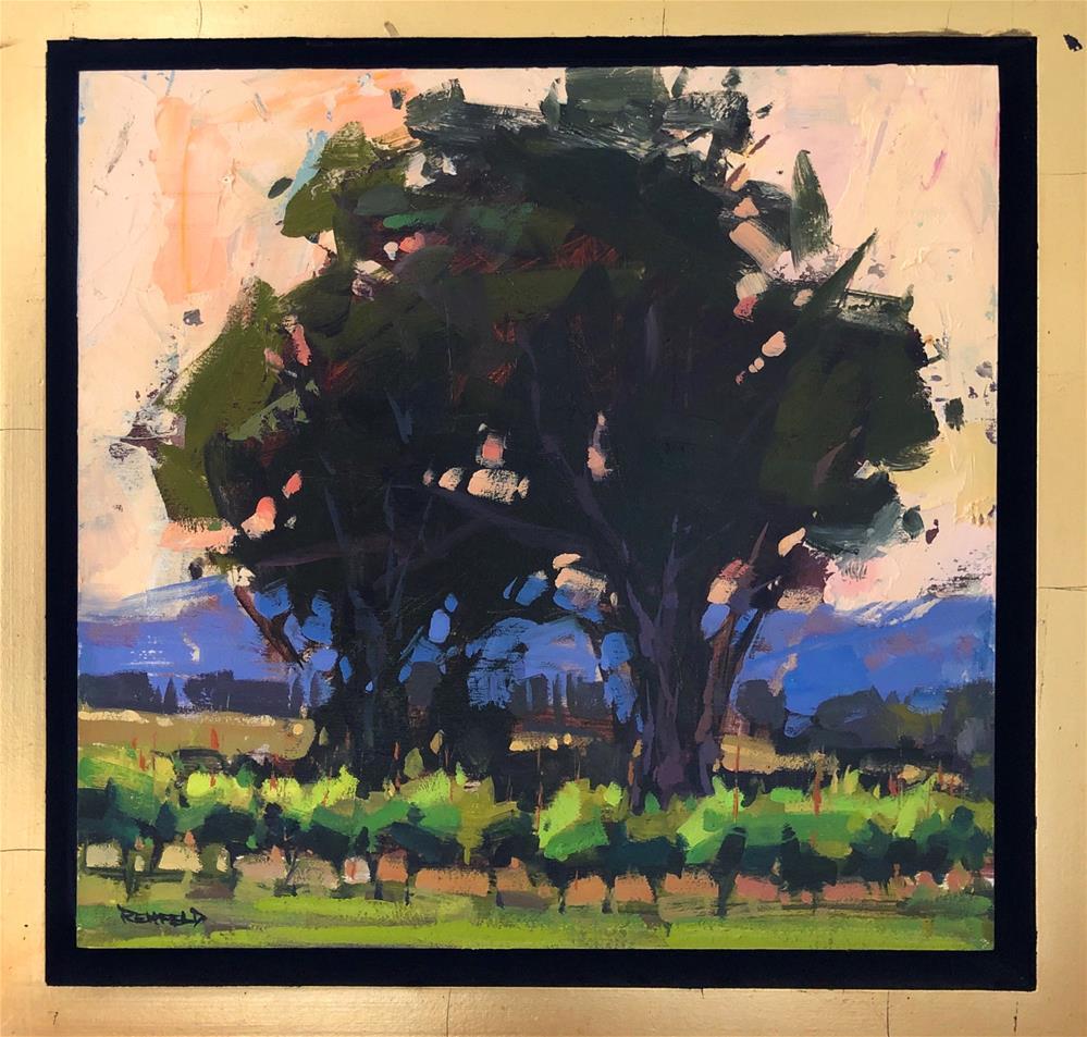 """Vineyard Sunrise"" original fine art by Cathleen Rehfeld"