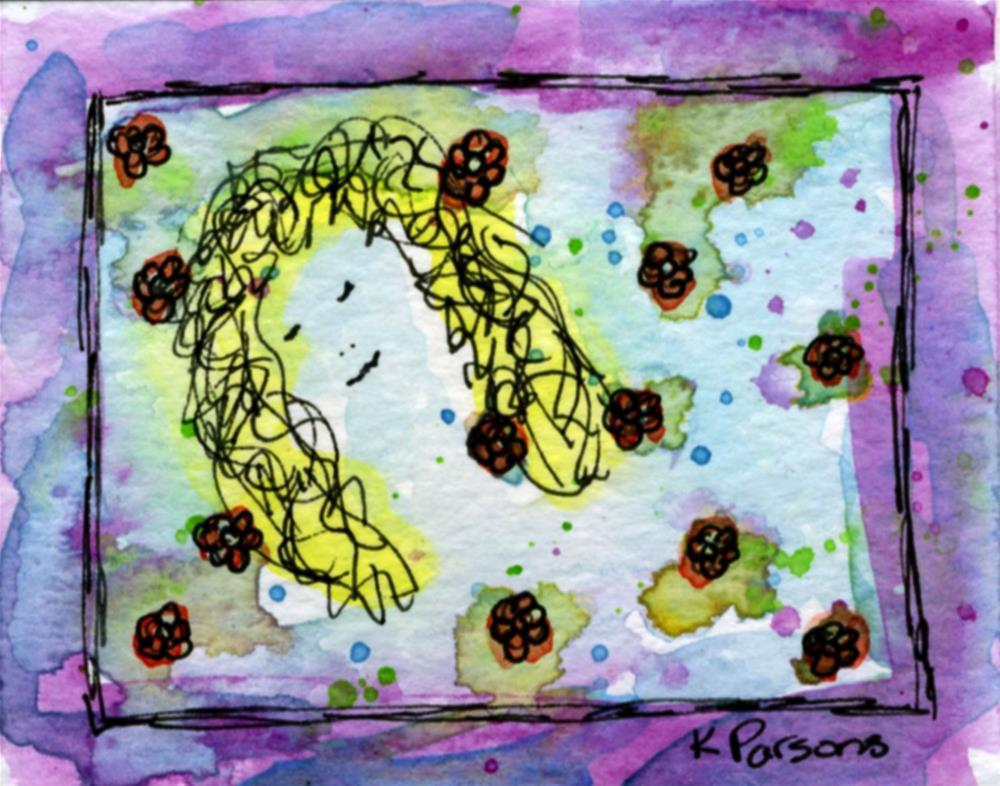 """Blissed Out Hippie Chick"" original fine art by Kali Parsons"