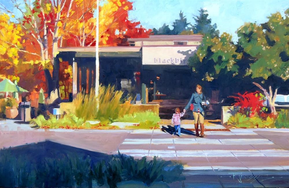"""""""Blackbird Bakery  Bainbridge Island, oil painting by Robin Weiss"""" original fine art by Robin Weiss"""