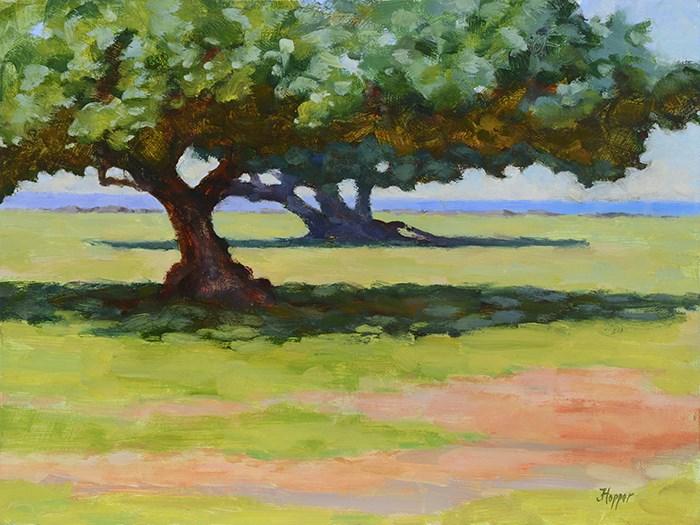 """""""Hau Trees"""" original fine art by Joanne Hopper"""