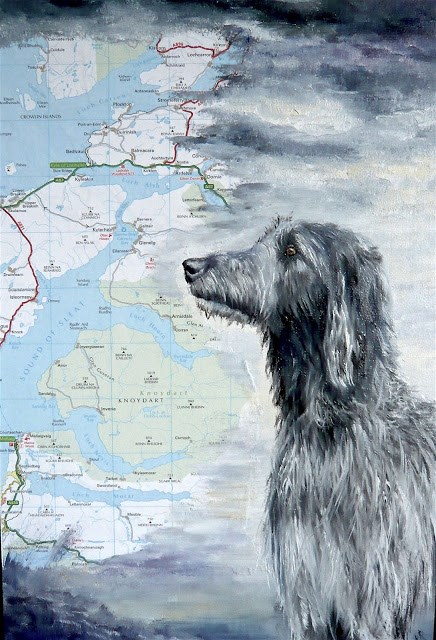 """Scottish Deerhound"" original fine art by Karen Robinson"