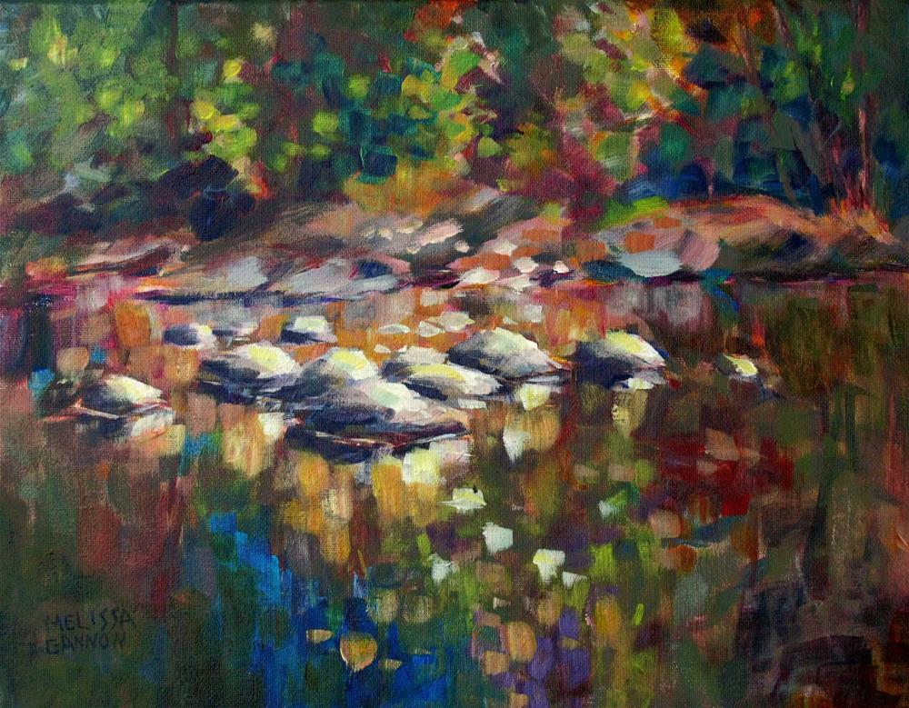 """Reflecting Water"" original fine art by Melissa Gannon"
