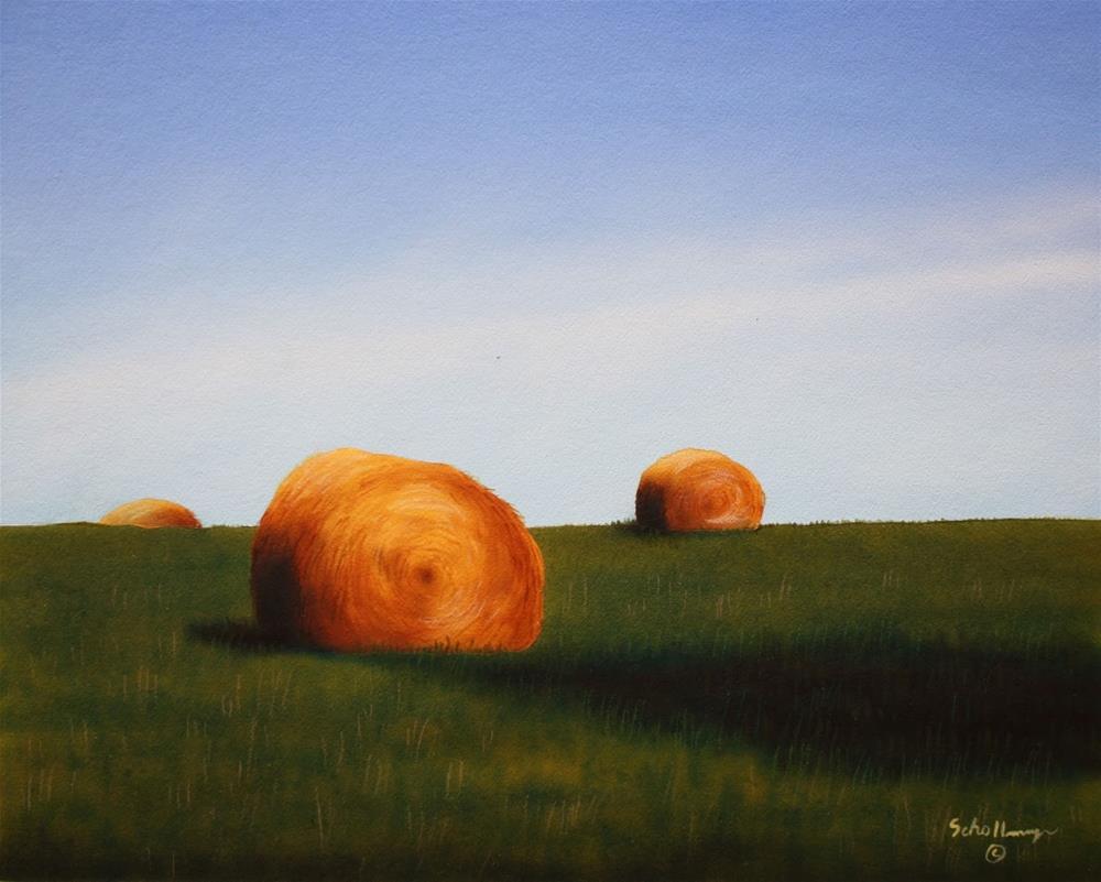 """Early June Hay"" original fine art by Fred Schollmeyer"